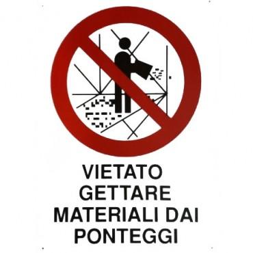 """Segnale Cant.cm.70x50 """"vietato Gettare Materiale"""""""