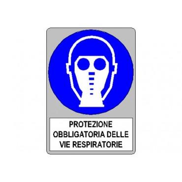 """Segnale Cant. Cm. 12x35 """"protezione Vie Respir."""""""