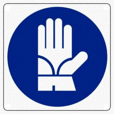 "Segnale Cant. Cm.12x35 ""guanti Di Protezione"""