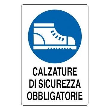 """Segnale Cant. Cm. 41x33 """"calzature Di Sicurezza"""""""