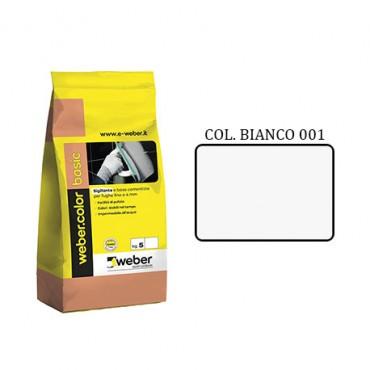 WEBER COLOR BASIC 001 BIANCO DA KG.05