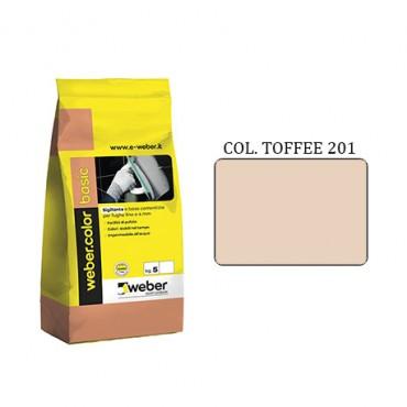 WEBER COLOR BASIC 201 TOFFEE DA KG.05