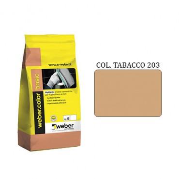 WEBER COLOR BASIC 203 TABACCO DA KG.05