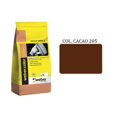 WEBER COLOR BASIC 205 CACAO DA KG.05