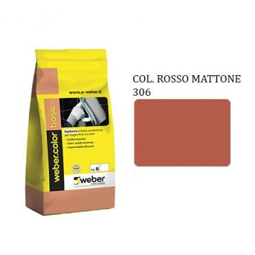 WEBER COLOR BASIC 306 ROSSO MATTONE DA KG.05