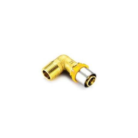 RACC. GAS CURVO MULTISTR. M D.16X1/2 TIEMME