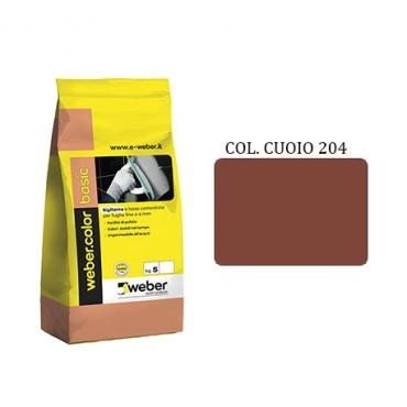 WEBER COLOR BASIC 204 CUOIO DA KG.05
