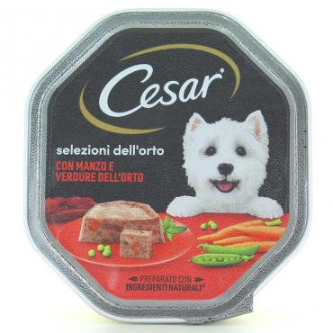 PATE DELICATO MANZO&VERDURE X CANI CESAR GR.150