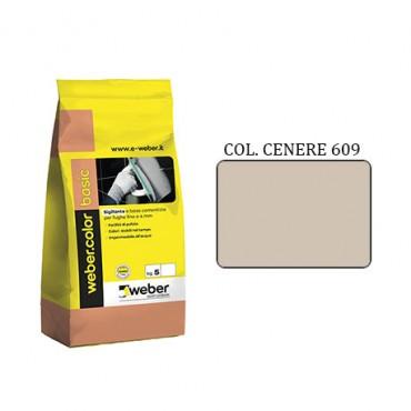 WEBER COLOR BASIC 609 CENERE DA KG.5