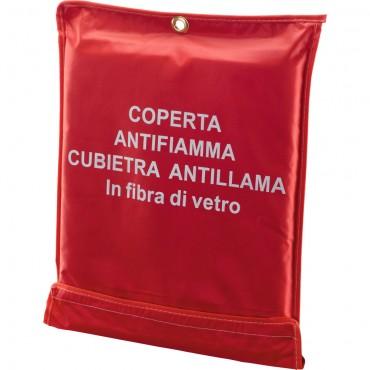 COPERTA ANTIFIAM. IN FIBRA DI VETRO 120X120 120204