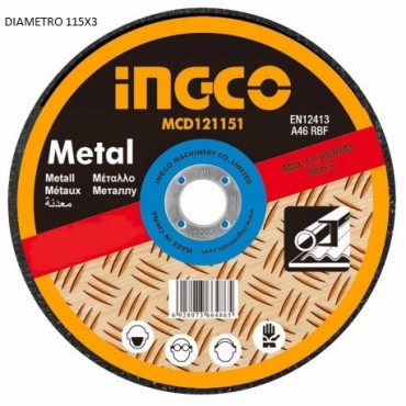 INGCO DISCO X FERRO D.115X3